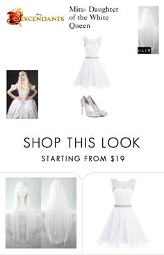 """Mira, Daughter of the White Queen"" by xoxo-music-queen-for-a-day1 ❤ liked on Polyvore featuring Disney and Miu Miu"
