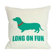 Dachshund Long On Fun Pillow
