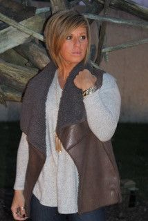 Cherish Vest with faux suede and shearling lining