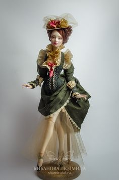 Тайна | Авторская шарнирная кукла Людмилы Кибановой