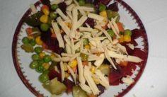 Šalát z červenej repy podľa Mačingovej Pasta Salad, Asparagus, Grains, Rice, Vegetables, Ethnic Recipes, Food, Wealth, Crab Pasta Salad
