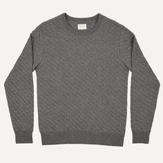 Quilted Cotton Crew Neck | Frank & Oak