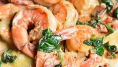Shrimp and Grits - Will Cook For Smiles Spinach And Cheese Ravioli, Spinach Pasta, Spinach Stuffed Mushrooms, Stuffed Peppers, Broccoli Salads, Baked Catfish Recipes, Low Carb Shrimp Recipes, Appetizer Sandwiches, Appetizer Recipes