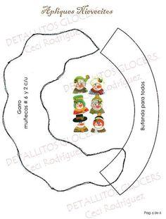 PIE DE ARBOL NAVIDEÑO APLIQUES NIEVES Christmas Diy, Snowman, Decorative Plates, Home Decor, Ideas, Templates, Holiday Ornaments, Appliques, Decorations