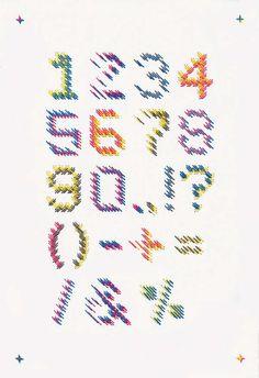 threaded typography