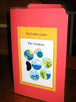 The Creation Mini File Folder Game