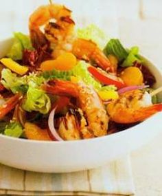 Shrimply Delicious Salad http://www.mysaladrecipe.com/shrimply-delicious-salad-3/
