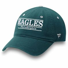 90b45adda92 Philadelphia Eagles NFL Pro Line by Fanatics Branded Primary Bar Adjustable  Hat Midnight Green  PhiladelphiaEagles