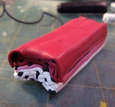 Kael Mijoy: Polymer Clay Tutorial- Red Lilyish Flower Cane