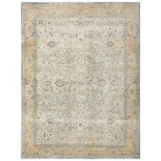 Antique Silk and Wool Persian Tehran Carpet | From a unique collection of antique and modern persian rugs at https://www.1stdibs.com/furniture/rugs-carpets/persian-rugs/