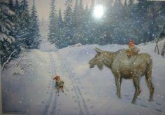 Elg og nisse (Moose and Gnomes)-Kjell Midthun