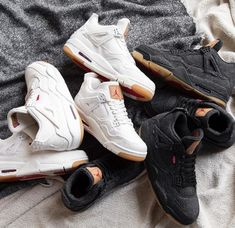 c5b20a0da56bfd Levi s x Air Jordan 4 in two denim white and black