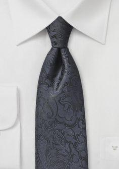 Markante Krawatte im Paisley-Look schwarzblau