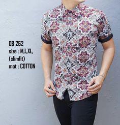 Baju Batik Pria Slim Fit Lengan Pendek Modern LS10  Baju batik