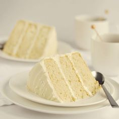My number ONE requested cake recipe! White Almond Sour Cream cake @McGreevy Cakes