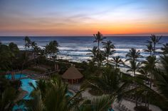 Enjoy the colors of the Pacific at sunset