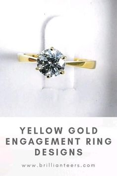 ALL of our ring designs are available in yellow gold ☀️ Look at how beautiful that diamond sits on that bright yellow 😚 Which ring would you want made in yellow gold? Have a look through our designs! Celebrity Engagement Rings, Engagement Wedding Ring Sets, Designer Engagement Rings, Diamond Engagement Rings, Diamond Rings, Gold Rings, Gold Ring Designs, Gold Rush, Wedding Rings For Women