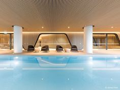 35 Admirable Indoor Pool Design Ideas You Must Have - Your house is huge and you want to do something to fill up the wasted space on the first floor so you may decide you want to start picking out indoor . Natural Swimming Pools, Indoor Swimming Pools, Swimming Pool Designs, Lap Pools, Natural Pools, Backyard Pools, Pool Decks, Pool Landscaping, Piscina Interior