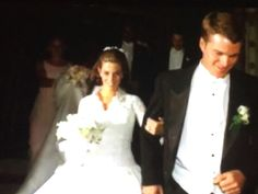 Chris O'Donnell with his bride Caroline Fentress O Donnell, Bride, Concert, Wedding Dresses, Hollywood, Weddings, Wedding Bride, Bride Dresses, Bridal Gowns