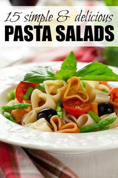 Whether you're looking for lunch or dinner recipes for a simple family meal at home, or need the perfect dish to take to a potluck at your BFFs this weekend, this collection of easy and delicious pasta salad recipes has you covered!