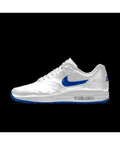 3aa44c1f73cd Nike Air Max 1 Hyp Id Bright White Blue Mens Shoes Outlet
