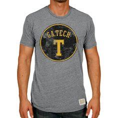 Georgia Tech Yellow Jackets Original Retro Brand Vintage Tri-Blend T-Shirt - Heather Gray - $29.99
