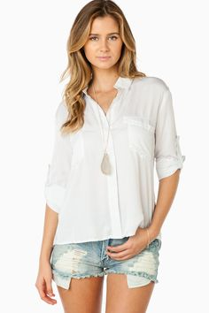 ShopSosie Style : Rylee Blouse in Ivory