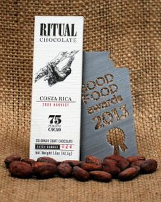 Ritual Chocolate is one of several home grown chocolate companies in Denver. Robbie & Anna, the chocolatiers, are wonderful folks that know more about chocolate than you can imagine. Their factory has open hours on Friday eves..go check it out. You won't regret.