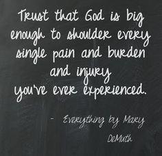 God is big enough. Created by Rachel Wojnarowski.