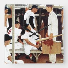 The Rookie Square Wall Clock #dogs #crafts #design baseball photography, baseball cards, baseball ideas, back to school, aesthetic wallpaper, y2k fashion Baseball Shirt Outfit, Baseball Shirts For Moms, Baseball Tips, Baseball Pictures, Baseball Mom, Shirts For Girls, Baseball Cards, Baseball Photography, Spring Training
