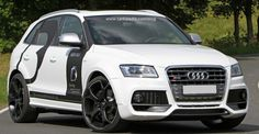 Modified Audi Q5  http://www.carkipedia.com/blog/2012/10/21/modified-widebody-audi-q5-22-vossen-rims/
