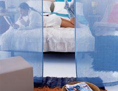 sheer linen curtain // room divider
