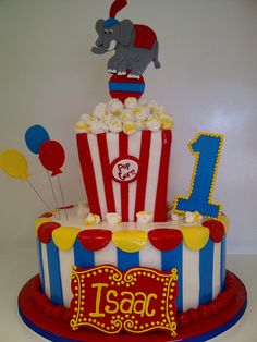 Circus cake - one tier only