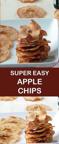 Apple Chips Recipe with cinnamon is the healthier version of chips with step by step pictures and instructions.
