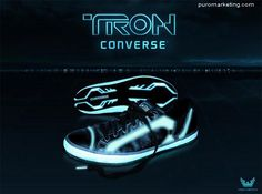 Converse Shoes / Tron #Marketing. Aaaah!! I want a pair too!!