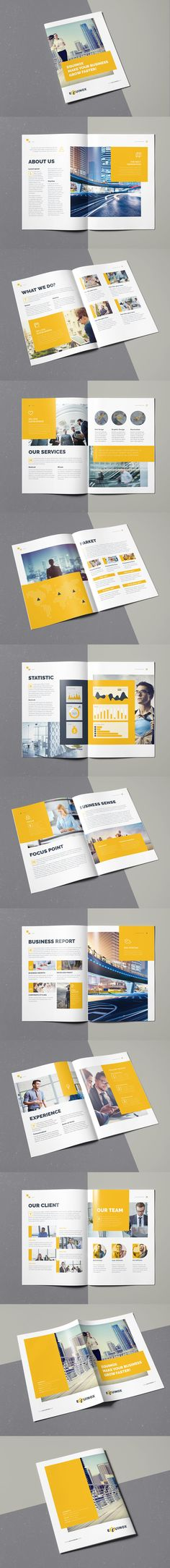 Equinox Brochure 20 Pages A4 Template InDesign INDD