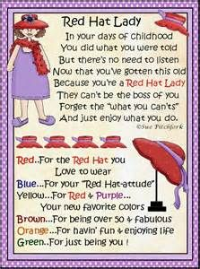 Red Hat Society Printable Decorations - Bing images