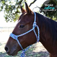 Hand braided in Oklahoma, Mule Tape is a Poly-Rope alternative consisting of a pre-lubricated measuring tape typically used to pull cable through conduit. With a breaking strength of over 1200 lbs per strand, the construction of this low stretch polyester material product protects it from breakage. The 4 strand plat of this halter gives it a breakage strength of nearly 5000 lbs.