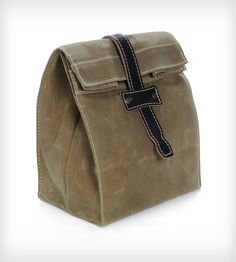Vermont Waxed Canvas Foldover Bag-A stylish lunch bag.