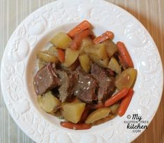 Slow Cooker Pot Roast {Gluten-free
