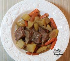 Slow Cooker Pot Roast {Gluten-free}