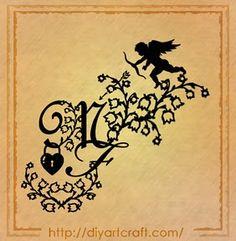 cupid tattoos | disegni Tattoo romantici: cuore e cupido tra MF maiuscole | tattoo ...