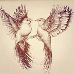Martineken Blog — Flying bird drawing by Linn Warme
