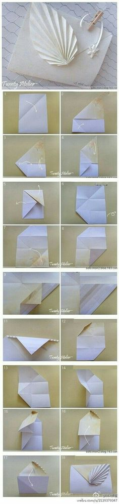Envelop With Origami Leaf