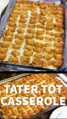 This is one of those great tater tot casserole recipes. It's super easy to make and will feed quite a few people. You can make this recipe with either chicken or ground beef for a delicious dinner. recipes with ground beef Tater Tot Casserole Recipe Easy Hamburger Casserole, Taco Casserole, Meatball Casserole, Tater Tot Chicken Casserole, Tatertot Casserole Recipe, Tater Tot Bake, Tater Tot Breakfast Casserole, Mexican Casserole, Casserole Dishes