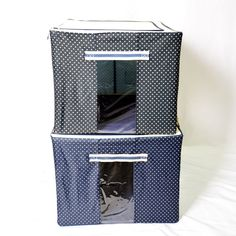 Quickly organize and store your belongings with these handy Collapsible Storage Bins . A see through panel allows you to know exactly what's inside for easy access. Shoe Storage Bins, Collapsible Storage Bins, Clothing Storage, Closet Organization, Organizing, Pvc Windows, Diy Garden Decor, Clean Up, Amazing Gardens