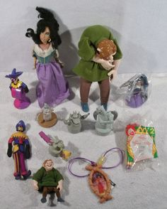 Large Lot of Disney Hunchback of Notre Dame quasimodo dali clopin toys figures E #Disney