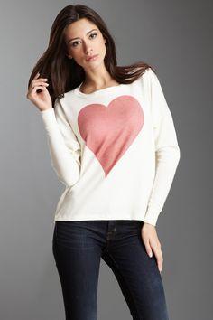 Go Jeans Heart Dolman Sleeve Sweater