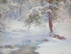 Une idylle d hiver, 1917 de Walter Launt Palmer (1854-1932, United States)