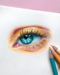 new eye study in my sketchbook The beautiful reference is from thesaraengel prismacolor pencils in a moleskine_arts sketchbook Pencil Art Drawings, Art Drawings Sketches, Drawings With Colored Pencils, Eye Study, Realistic Eye Drawing, Drawing Eyes, Drawings Of Eyes, Arte Sketchbook, Sketchbook Ideas